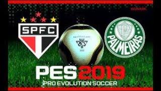 PES 2019 DEMO Gameplay - PALMEIRAS X SÃO PAULO