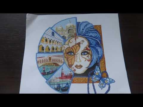 Вышивка венецианская маска