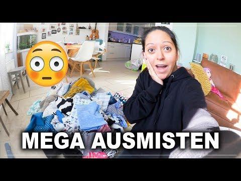 Stoff Chaos Ausmisten mit KONMARI - Familien Alltag - Vlog#1090 Rosislife