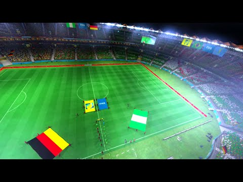Nigeria vs Germany Semi Finals Game Pretend Olympic Games Using 2014 FIFA World Cup Brazil