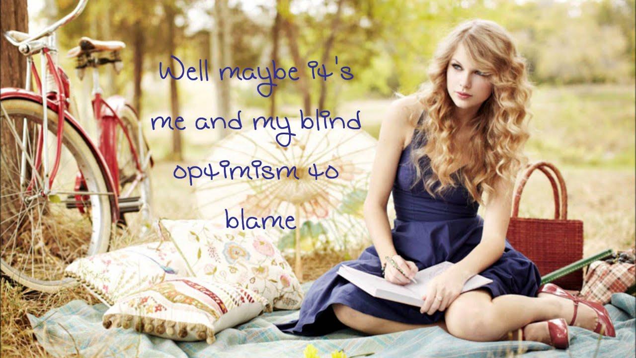 Taylor Swift Dear John Lyrics Youtube