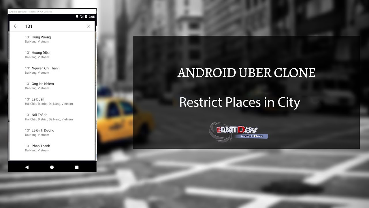 Android Uber Clone - Part 15 Restrict places only in city