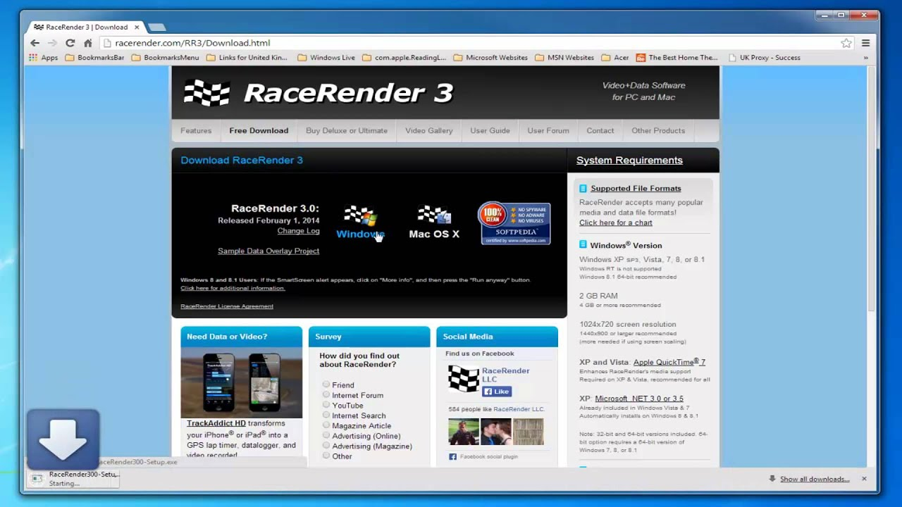 How to use RaceRender 3 with a RoadHawk HD Camera