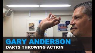 Gary Anderson Darts thr๐wing action (slow-mo)