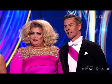 Gemma Collins and Matt Evers skating in Dancing on Ice (Musicals Week) (20/1/19)