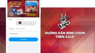 Bình chọn trên Zalo - Giọng Hát Việt Nhí