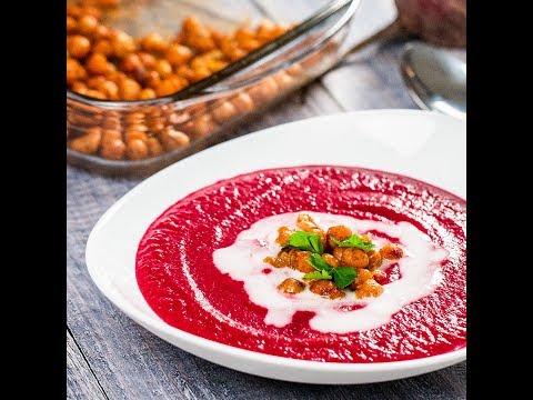 Supă cremă de sfeclă roșie cu năut