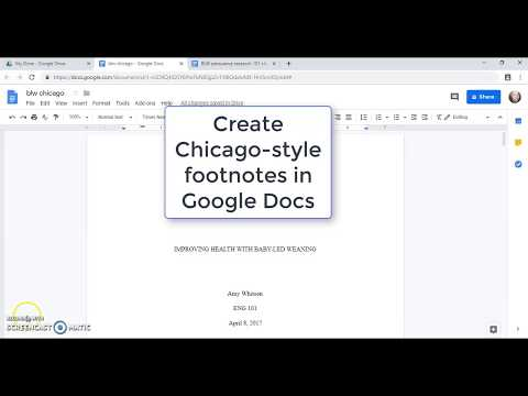 Create Chicago-style Footnotes In Google Docs