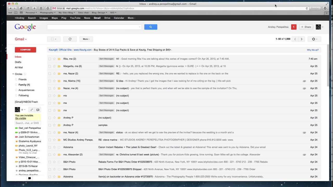 How to change gmail appearance to look like outlook