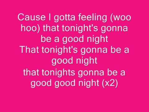 Black Eyed Peas - I Gotta Feeling Lyrics | MetroLyrics