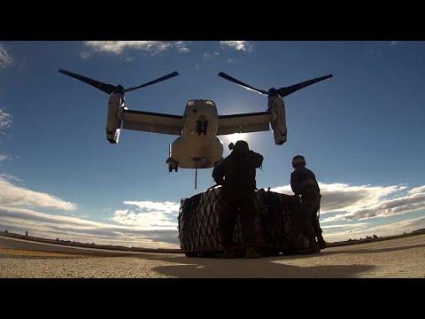 U.S. Marines Lift Heavy Cargo with MV-22 Osprey in Spain