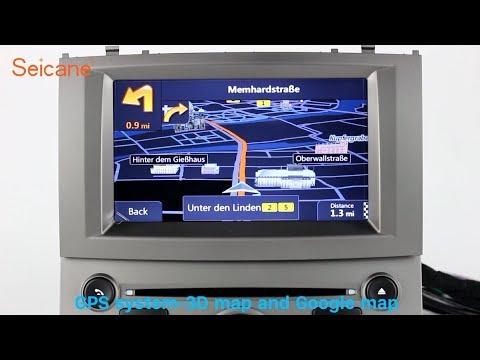 Aftermarket Navigation 2004-2010 Peugeot 407 Radio GPS DVD Player Support 3G 4G WIFI