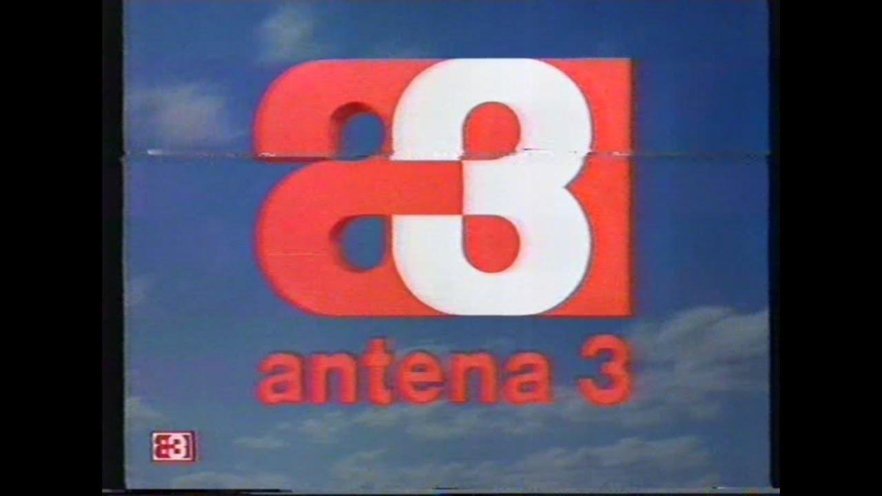 Primer logotipo de Antena 3, una a y un 3 generando una forma gestáltica