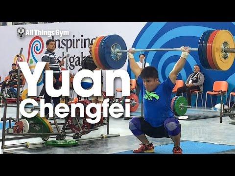 Yuan Chengfei (77kg, China) 180kg Clean & Squat Jerk + 210kg Clean Pulls