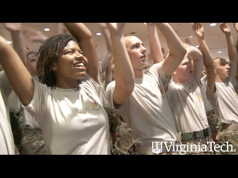New cadets get lesson in Hokie spirit - Virginia Tech