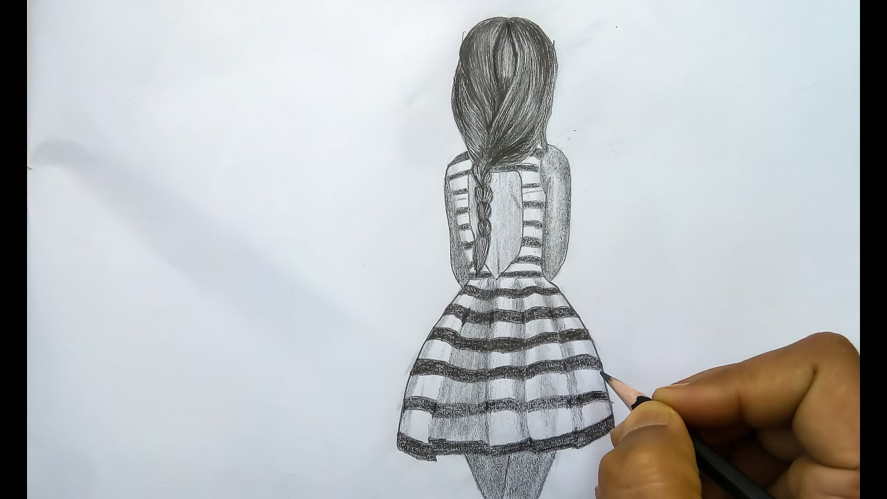 How to draw a girl pencil sketch drawing