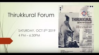 Thirukkural Forum, Oct 5