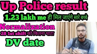 Up police result Normalization shift wise/ 28 1st shift Normalization in up police result
