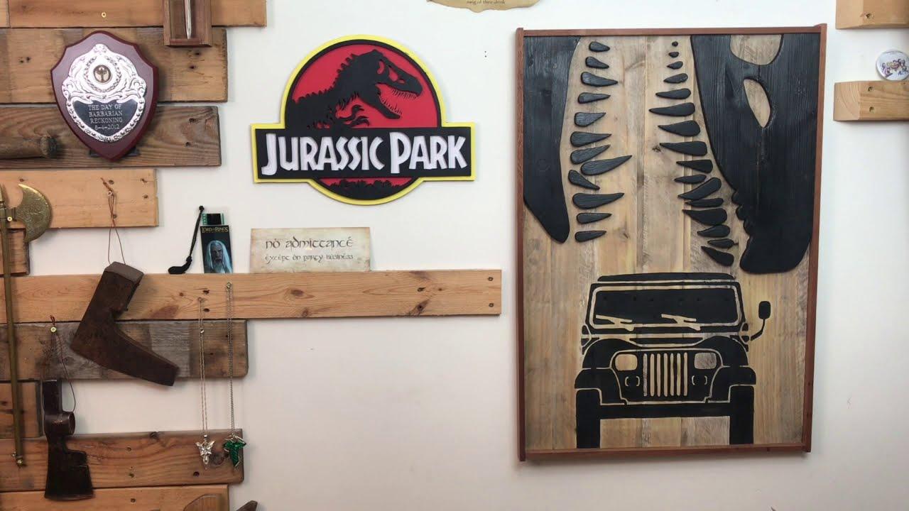 Diy jurassic park wall art brothers make