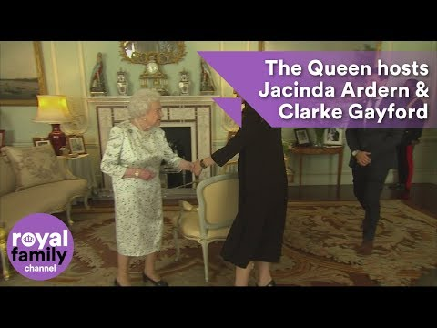 The Queen hosts Jacinda Ardern and Clarke Gayford at Buckingham Palace