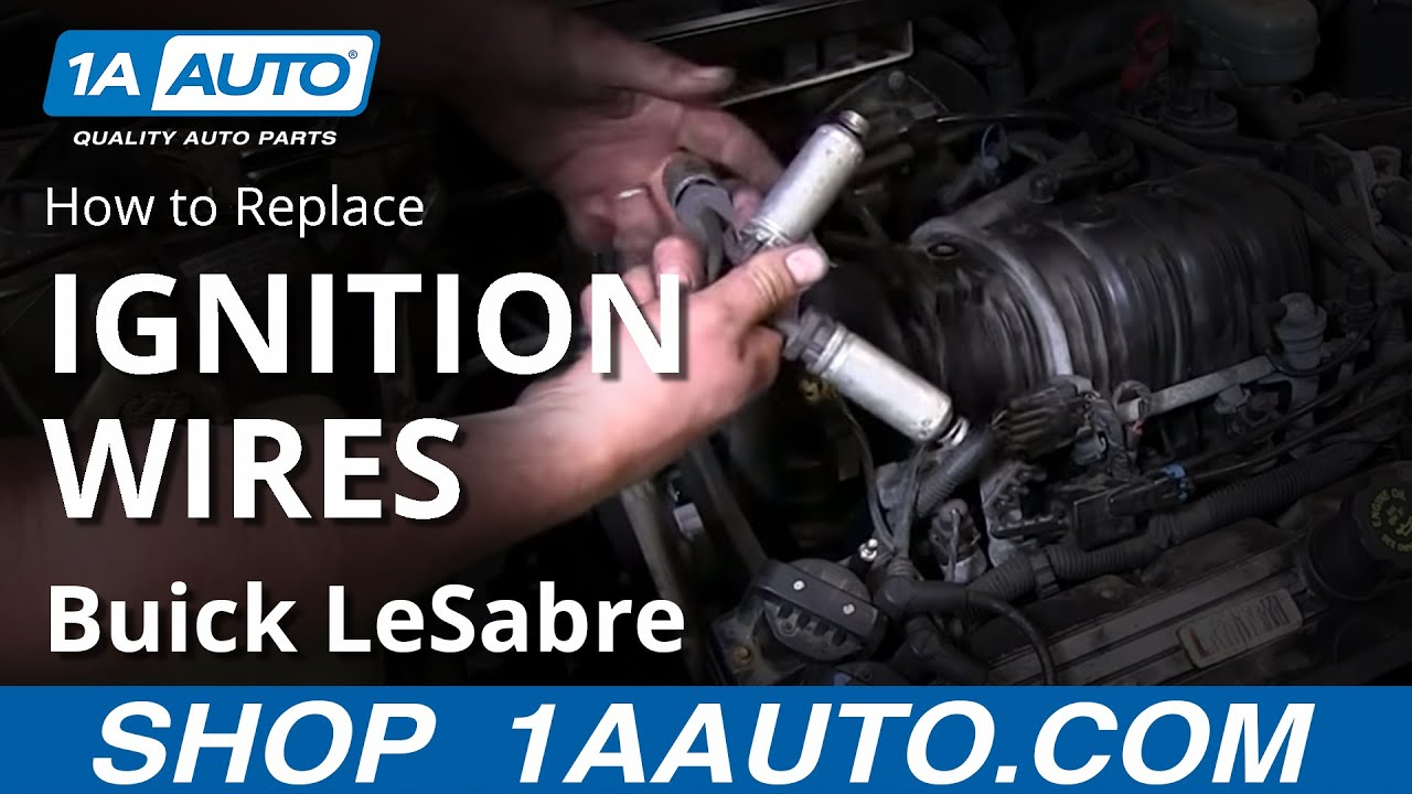 maxresdefault how to install replace spark plug wires 1993 99 buick lesabre 3800 gm 3800 spark plug wire diagram at aneh.co