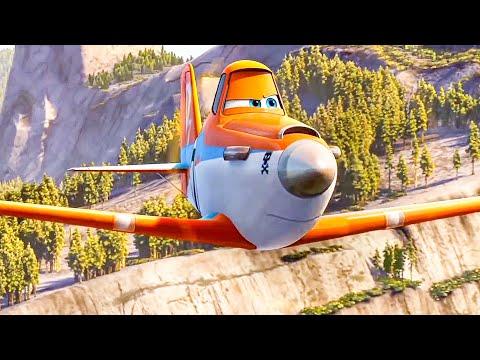 Extinguish The Wildfire Scene - PLANES 2: FIRE & RESCUE (2014) Movie Clip