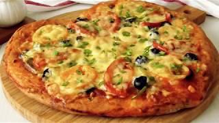 Быстрая Пицца *Валентинка* на бездрожжевом тесте! Fast Pizza * Valentine*!