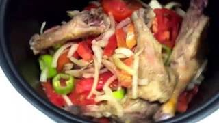 Рецепт утки с овощами