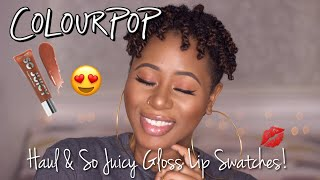 HAUL || Colourpop So Juicy Plumping Gloss Lip Swatches & Haul | Discoveries of Self