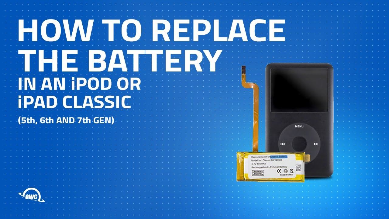 how to replace the battery in an ipod or ipod classic 5th 6th and 7th gen  [ 1280 x 720 Pixel ]