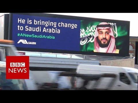 Saudi Crown Prince's billboard welcome - BBC News