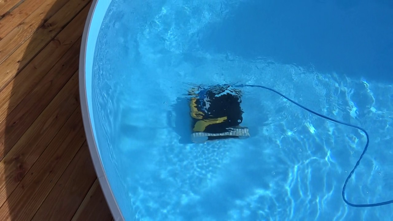 Bodensauger Pool Dolphin Dolphin E20 Poolroboter Bei Der Arbeit