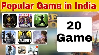 5 popular Game in India || Top Game in India || Most played Game in India || 20 popular Game india
