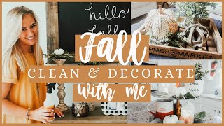 FALL CLEAN AND DECORATE WITH ME 2019 | ULTIMATE CLEAN WITH ME | FALL SPEED CLEANING MOTIVATION