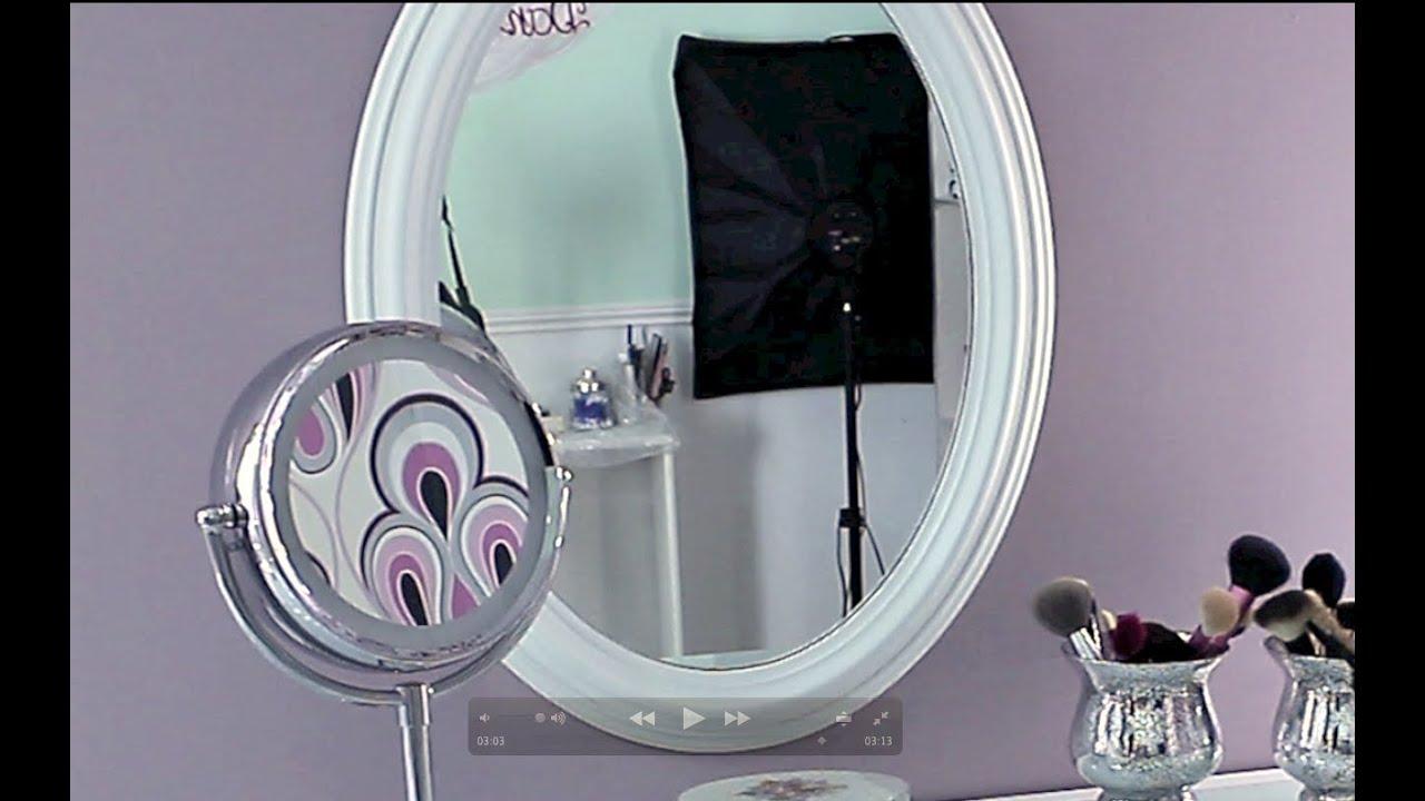 Diy pintar un espejo viejo youtube for Marcos para espejos grandes modernos