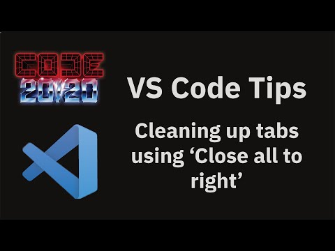 Cleaning up tabs using 'Close all to right'