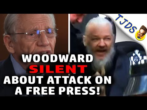 Bob Woodward SILENT About Julian Assange and the Attack On A Free Press!