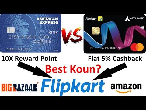 Flipkart Axis Credit Card Vs American Express Smart Earn Credit Card - Best Credit Card For Grocery