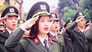 Lễ chào cờ đầu tuần Học viện An ninh nhân dân