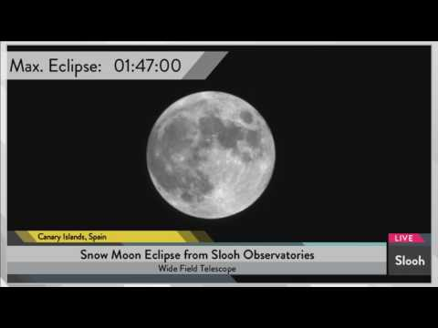 'Snow Moon' Penumbral Lunar Eclipse of February 2017