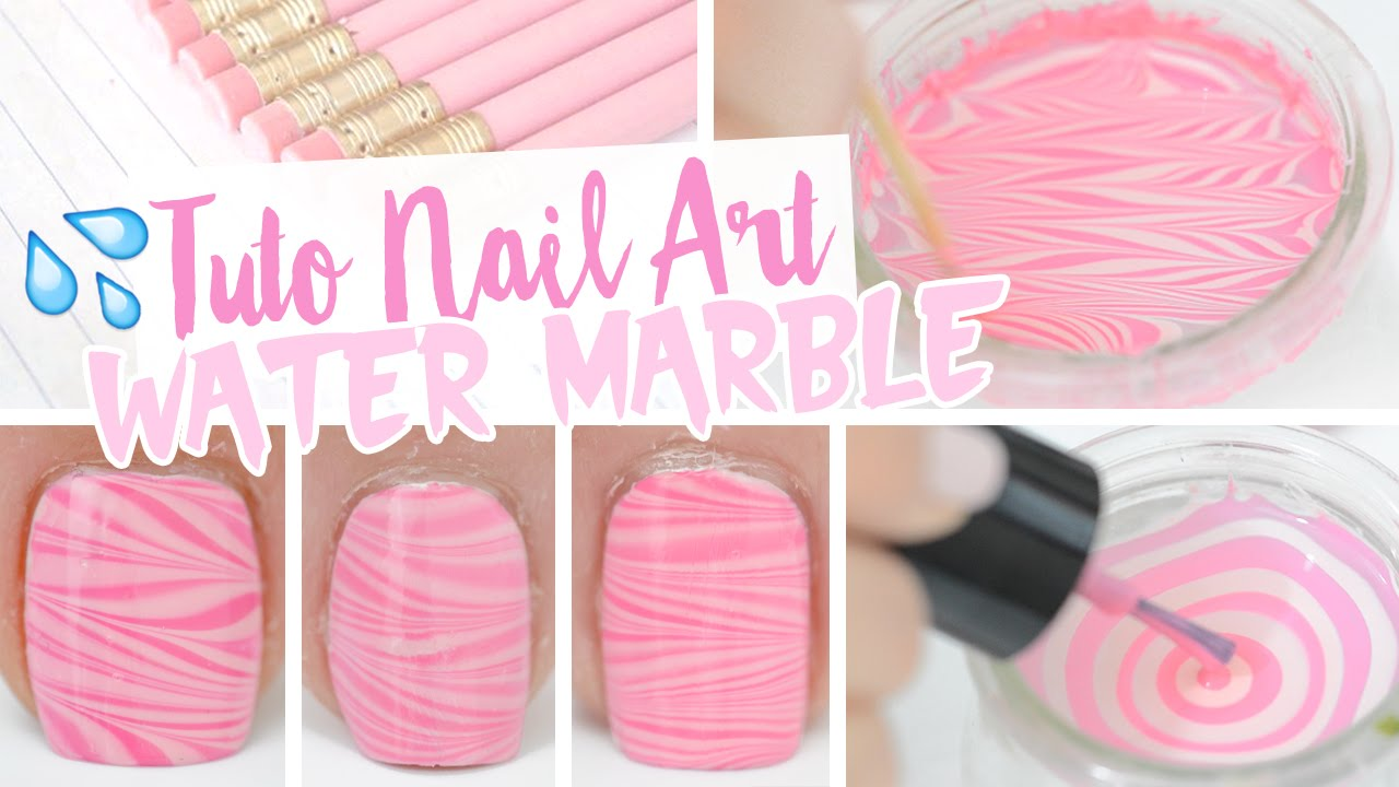 Nail art water marble et tremper 2 ongles la fois youtube - Tuto nail art debutant ...