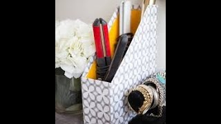 13 Different Ways to organise hair styling tools (dryer, curler) | Learning Process
