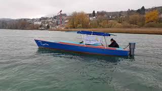 Moteur électrique Navigaflex outboard, rétractable et orientable
