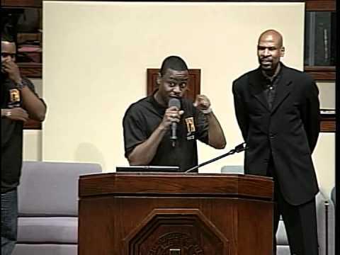 Pastor Charles Jenkins preaching at Ebenezer AME for Youth Sunday