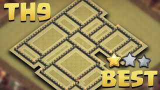 Town Hall 9 (TH9 Tested in 15 Wars) BEST WAR BASE 2016 AnTi 3 Star [AnTi All Combo] + Replays