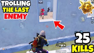 Enemy Gets Heart-Attack Because of Our TROLLING in PUBG Mobile • (25 KILLS) • PUBGM (HINDI)