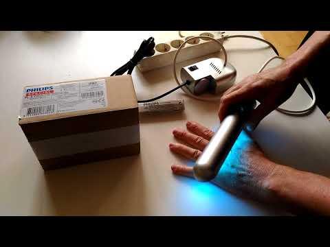 Как правильно держать медицинскую лампу UVBNB-311нм от псориаза, витилиго, экземы.