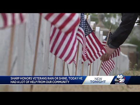 Boy decorates veterans' graves in Fort Smith