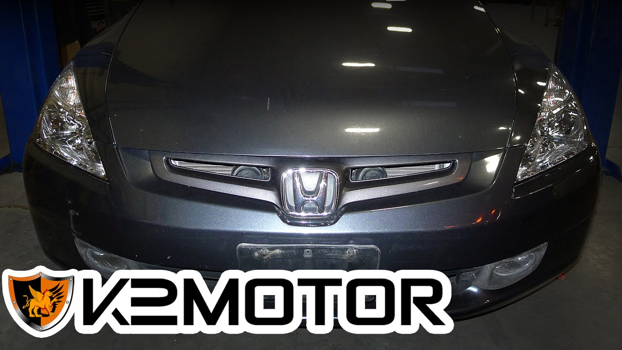 High Quality K2MOTOR INSTALLATION VIDEO: 2003   2005 HONDA ACCORD SEDAN 4 DOOR HEADLIGHTS