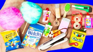65 DIY MINIATURE REALISTIC HACKS AND CRAFTS : MAKEUP, SCHOOL SUPPLIES, MINI FOOD AND MORE DIY CRAFTS
